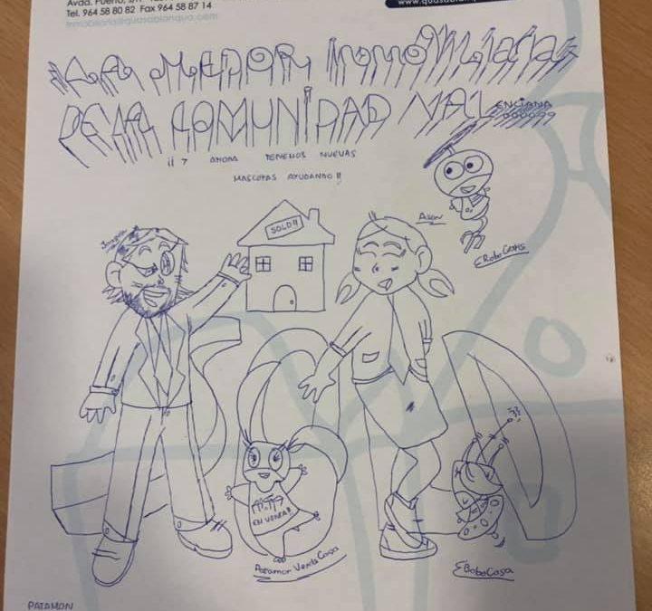 Impresionante regalo el dibujo de una niña